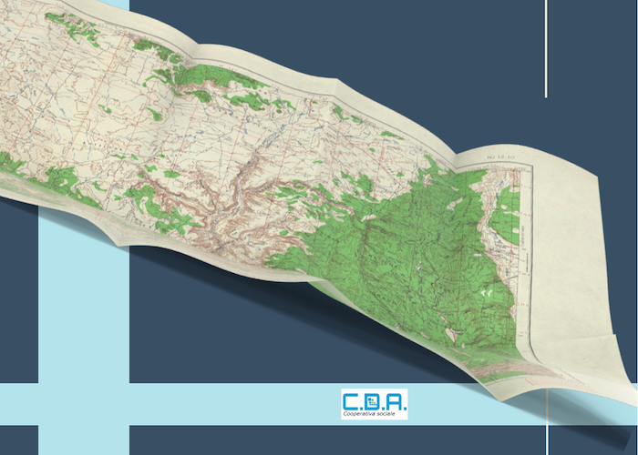 Cartina stradale piegata