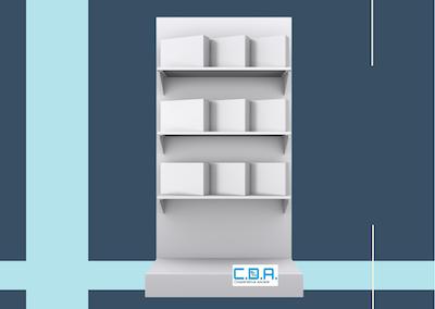 CDA espositore prodotti completo di scatole