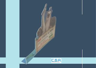 CDA stopper con biadesivo piegato