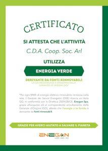 CDA utilizza i energia verde